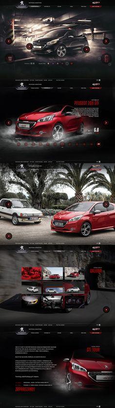 GTi is back! - Peugot 208 GTI website by Kuba Bogaczyński (Charakterny) via Behance http://208gti.peugeot.pl/