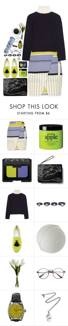 """""""i'm a rebel just for kicks now"""" by tanja-bp ❤ liked on Polyvore featuring River Island, philosophy, NARS Cosmetics, Acne Studios, Giuseppe Zanotti, Rolex and Pamela Love"""