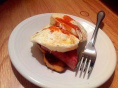Ham, Egg, & Sweet Potato breakfast. Simple paleo breakfast!