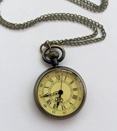 Custom Sherlock Style Pocket Watch Necklace by SimplyHarry on Etsy
