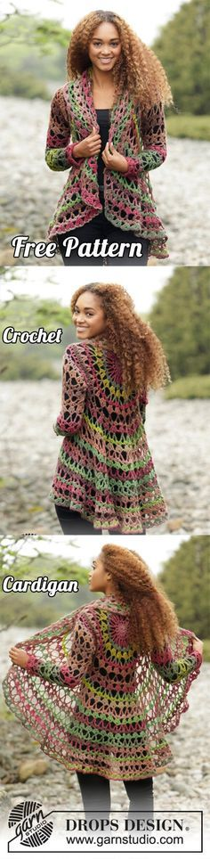 Crochet Cardigan: See the Free Pattern and make it yourself | Free Pattern, Yarn Crochet, Cardigan, Crochet Inspirations, DIY, Crafts, Crochet Free, Crochet Tutorial, Tips Crochet, Woman's Crochet
