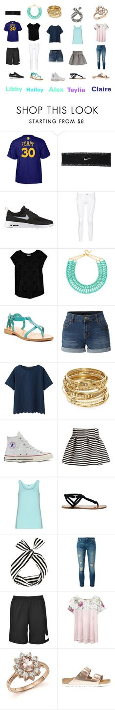 """Party Friends"" by mari-conant ❤ liked on Polyvore featuring adidas, NIKE, rag & bone/JEAN, Bobeau, BaubleBar, Cocobelle, LE3NO, Uniqlo, ABS by Allen Schwartz and Converse"