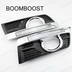 BOOMBOOST 2 pcs Daytime Running Lights LED DRL With Fog Lamp Cover for Cadillac SRX 2010-2015 #Affiliate