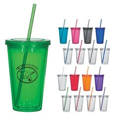 Promotional 16 oz. Double Wall Acrylic Tumbler With Straw | Customized Tumblers | Promotional Tumblers. These tumblers sell for $3.99/each! But you can easily sell them in a retail store for over 8 dollars! Happy Stocking!