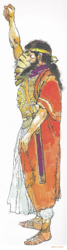"""""""AGAMEMNON the lord of men did not resist. He commanded heralds to cry out loud and clear and summon the long-haired Achaean troops to battle."""" - Homer's Iliad, Book 2 (Victor Ambrus/Robert Fagles/user: Aethon)"""