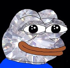 Behold the Diamond Pepe! Bask as he grants you good luck for the rest of the year!