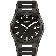 07301410 esq by movado men s excel watch men s watches bulova men s black stainless steel watch by bulova