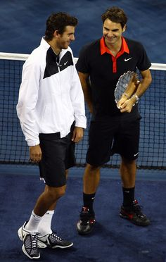 Del Potro and Federer after the 2009 US Open final.