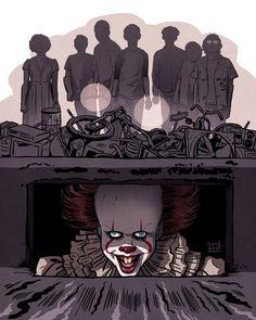 It Art Print by buisanart Arte Horror, Horror Art, Scary Movies, Horror Movies, Slasher Movies, It The Clown Movie, Saint Yves, Le Clown, Pennywise The Dancing Clown