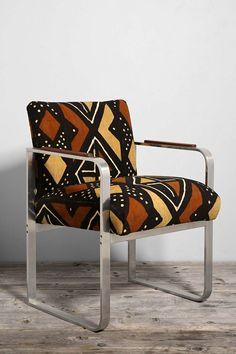 Urban Renewal Mud Cloth Metal Chair - Urban Outfitters