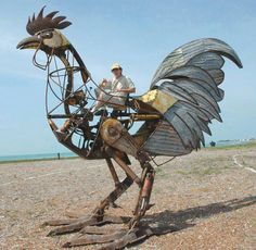 "steampunktendencies:  "" Giant Key West Chicken by Derek Arnold  """