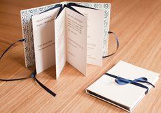 Handmade Order of Service Star Book