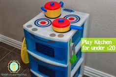 a DIY Kids Kitchen Storage and PLAY set