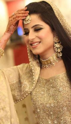 White Bridal Dresses For Pakistani Brides is bit of unique concept for the brides in Pakistan because they like to wear red or pink on their wedding day. White Bridal Dresses, Bridal Outfits, Wedding Dresses, Pakistani Bridal, Indian Bridal, Pakistani Couture, Bridal Looks, Bridal Style, Beautiful Bride