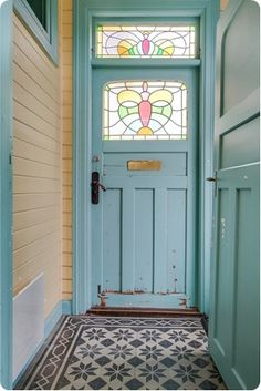 52 Ideas House Entrance Interior Stained Glass For 2019 Front Door Entrance, Glass Front Door, House Entrance, Entrance Ideas, Door Ideas, Eclectic Front Doors, Glass Bathroom Door, Stained Glass Door, Front Door Design