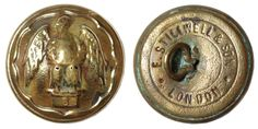 Officers button The Royal Irish Fusiliers. 1881 – 1920. Material: copper alloy. Manufacturer: E. Stillwell & Son, London. Diameter: 25 mm. Found: Lancashire 2015. #metaldetecting, #buttons, # 0166
