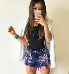 Girly Outfits, Short Outfits, Outfits For Teens, Sexy Outfits, Spring Outfits, Trendy Outfits, Cute Outfits, Fashion Outfits, Fashion Trends