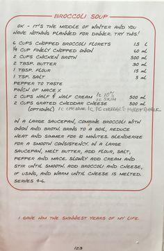 Best of Bridge Broccoli Cheese Soup Copycat Recipes, Soup Recipes, Easy Recipes, Recipies, Easy Meals, Family Recipes, Family Meals, Broccoli Cheese Soup, Broccoli Florets