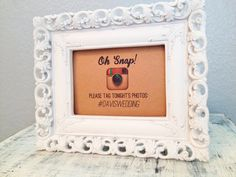 5x7 Instagram wedding sign  custom hashtag by TexasFarmersDaughter, $7.50