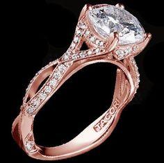 rose gold tacori engagement ring