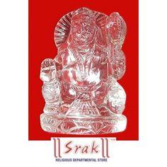 Sidh Sree Sphatik Hanuman Siting With Gda