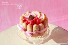 Blush Pink Charlotte Cake 1/12 scale par HummingbirdMiniature, $38.00