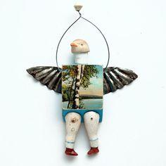 PIGEON TOED original art doll German bisque doll parts BIRD ornie   by Elizabeth Rosen. $55.00, via Etsy.