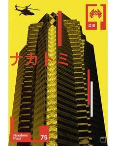 BROTHERTEDD.COM Die Hard 1988, Series Movies, Willis Tower, Art Gallery, Japanese, Movie Posters, Instagram, Action, Film