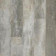 LifeProof Take Home Sample - Buckhorn Gray Oak Rigid Core Luxury Vinyl Plank Flooring - 4 in. x 4 - The Home Depot Luxury Vinyl Flooring, Luxury Vinyl Tile, Vinyl Plank Flooring, Luxury Vinyl Plank, Tile Flooring, Flooring Ideas, Laminate Flooring, Seasoned Wood, Vinyl Style