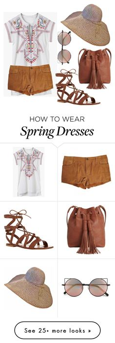 """boho"" by dera-devalina on Polyvore featuring Gianvito Rossi, Linda Farrow, Lucky Brand, Joe's, women's clothing, women, female, woman, misses and juniors"