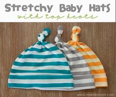 Free pattern: Knot top baby hats