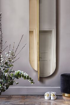 Mirrors РHome Decor : Miroir Totem en verre gris fum̩ et laiton, Red Edition РGrey smoked Totem mirror, plated brass frame, Red Edition -Read More Р- Gold Furniture, Cheap Furniture, Luxury Furniture, Vintage Furniture, Living Room Furniture, Modern Furniture, Furniture Design, Furniture Hardware, Rustic Furniture