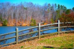 Wide-Angle Fence Photo Outside of North Carolina on Lake Wylie in McDowell Park by Matt K. Lehman, via Flickr