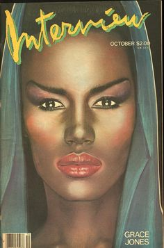 Grace Jones 1984 Andy Warhol's Interview Magazine by richard bernstein