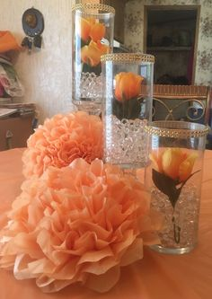 Predominant remodeled quinceanera party center pieces FAQs - New Site Quinceanera Centerpieces, Glass Centerpieces, Quinceanera Party, Wedding Centerpieces, Wedding Table, Diy Wedding, Wedding Events, Wedding Decorations, Table Decorations