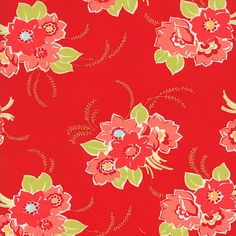 Hey, I found this really awesome Etsy listing at https://www.etsy.com/listing/200626708/red-main-flower-fabric-moda-bonnie-and
