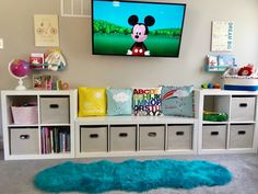 55 Clever Kids Bedroom Organization and Tips Ideas Oriel D. Playroom Organization Bedroom Clever Ideas Kids Organization Oriel Tips Playroom Design, Playroom Decor, Bedroom Decor, Boys Playroom Ideas, Baby Playroom, Kids Playroom Storage, Toddler Boy Room Ideas, Basement Daycare Ideas, Kids Bedroom Ideas