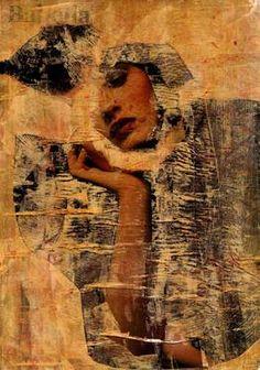"Saatchi Art Artist CRIS ACQUA; Collage, ""15-ARTE  en  PAPEL."" #art"