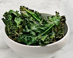 Kale chips with miso dipping sauce