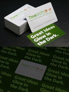Great ideas Glow in the Dark #businesscard