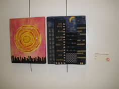 """Sun in the Morning and the Moon at Night"" by Carol Myers, Etobicoke Quilters' Guild."