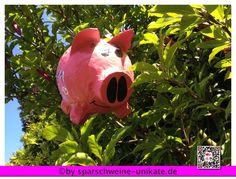 Pinata - Sparschwein - Partyspiele -  von Ramonas Sparschweine-Glücksschweine  Geldgeschenke und Geschenkideen für jeden Anlass auf DaWanda.com