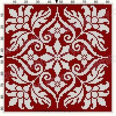 ru / Фото - Le Filet Ancien V - gabbach Cross Stitch Tree, Cross Stitch Borders, Cross Stitch Flowers, Cross Stitch Designs, Cross Stitching, Cross Stitch Embroidery, Cross Stitch Patterns, Filet Crochet Charts, Crochet Cross