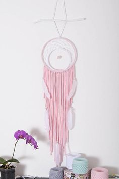 Pink Dream catcher Boho Dreamcatcher Wedding Dreamcatchers