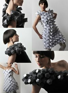 Amila Hrustic Plato's Collection.  Origami Fashion