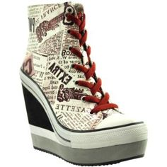 I found 'ROCK & CANDY Lulu Lace-Up Wedge' on Wish, check it out!