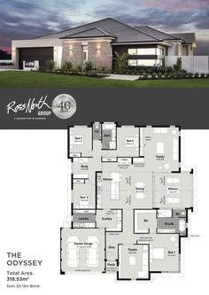 20 Modern Contemporary House Design with Floor Plan Modern Contemporary House Design with Floor Plan. 20 Modern Contemporary House Design with Floor Plan. Porch House Plans, House Layout Plans, House Plans One Story, Family House Plans, Dream House Plans, Story House, House Layouts, Modern House Floor Plans, Contemporary House Plans
