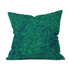 Karen Harris Carillon Peacock Emerald Pillow