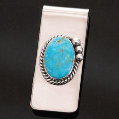 Turquoise Money Clip  www.silversunalbuquerque.com