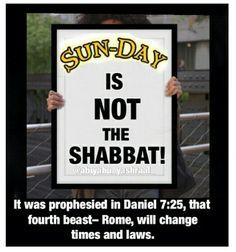 Friday sundown till Saturday sundown is the Sabbath, let's keep it Holy.
